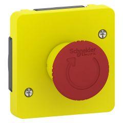 Mureva Styl - Arrêt d'urgence 1/4 tour - composable IP55 - IK08 -jaune