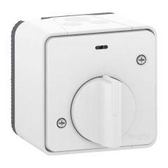 Mureva Styl - Interrupteur temporisé LED - saillie - IP55 - IK08 - blanc