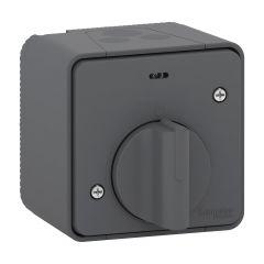 Mureva Styl - Interrupteur temporisé LED - saillie - IP55 - IK08 - gris