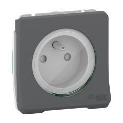 Mureva Styl - Prise de courant 2P+T - composable - IP55 - IK08 - gris