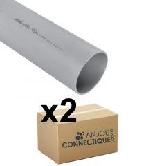 Lot de 2 tubes PVC compact NF-Me - diamètre 75 mm - 4 mètres - Nicoll