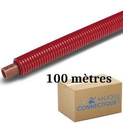 Tube PER BAO Prégainé Ø16 Rouge - 100 mètres - Barbi Blansol