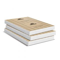 Un paquet de 6 panneaux laine de verre PURE 32 PP revêtu kraft - Ep. 101mm - 4,86m² - R 3.15