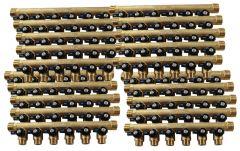 """Lot de 20 Collecteurs mini-vanne M/F 3/4"""" (20/27) - 1/2"""" (15/21)  - 6 piquages M 1/2"""" (15/21)"""
