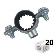 Lots de 20 Colliers de fixation Atlas simple isophonique Ø14 ou Ø16 ou Ø18 ou Ø22 - FISCHER