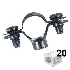 Lots de 20 Colliers de fixation simple - Ø14 ou Ø16 ou Ø18 ou Ø22 - FISCHER