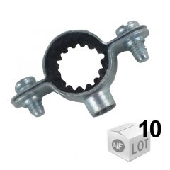 Lots de 10 Colliers de fixation Atlas simple isophonique Ø12 ou Ø28 ou Ø32 ou Ø40 - FISCHER