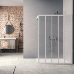 Paroi de douche Loft Classic H200 x L100 cm Laqué blanc / 2 barrettes