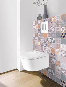 Panneau mural Decofast - Vintage - pour habillage Bâti-support - 1500 x 1200 x 3 mm - Patchwork parme - Lazer