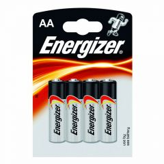 Piles alcaline Energizer AA - LR6 - 1,5V - Blister x4