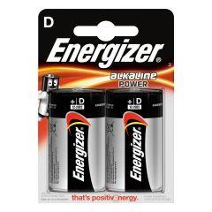 Piles alcaline Energizer D - LR20 - Blister x2