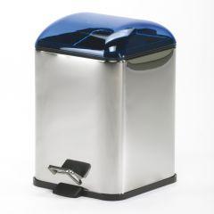Poubelle avec pédale bleu transparent Karta