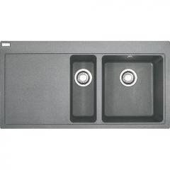 Évier de cuisine Mythos Fragranit - égouttoir à gauche - 1000x515x205 mm - Stone - Sous-meuble 60 cm - Franke