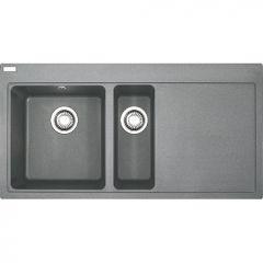 Évier de cuisine Mythos Fragranit - égouttoir à droite - 1000x515x205 mm - Stone - Sous-meuble 60 cm - Franke