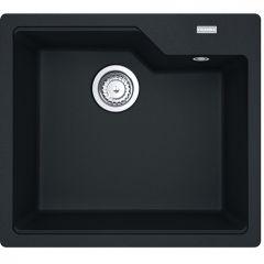 Évier de cuisine Urbis Fragranit+ UBG610-56 - 560 x 500 x 230 mm - Noir mat - Sous-meuble 60 cm - Franke
