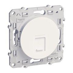 Prise RJ45 ODACE blanc téléphone et ou informatique cat.6 - S520475