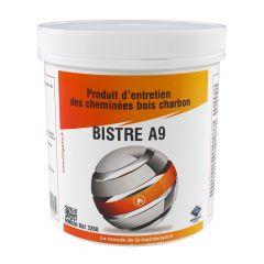 BISTRE A9 Produit d'entretien de cheminée Bois/Charbon - Pot de 1kg