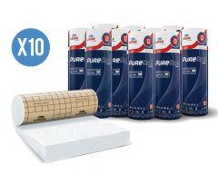 10 rouleaux laine de verre URSA PUREONE PURE 40 RP - 240mm - R 6.0