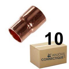 Lot de 10 réductions Cuivre NF Femelle Femelle Ø18-14