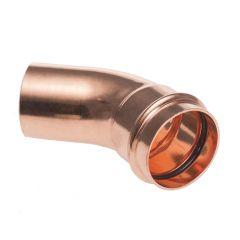 Lot de raccord cuivre à sertir - 5 Courbes 45° Mâle/Femelle Ø28
