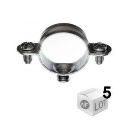 Lots de 5 Colliers métallique en acier simple - Diamètres 28 ou 32 - RAM