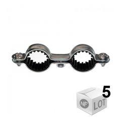 5 Colliers métalliques en acier double isophonique - Ø16 ou Ø18 ou Ø20 ou Ø22 - RAM