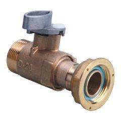 Robinet compteur Type D gaz naturel à manivelle DN20