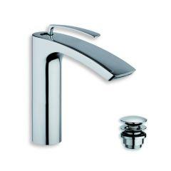 Robinet mitigeur lavabo mi-haut BOLLICINE Chromé - Cristina Ondyna BO22751