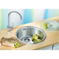 Évier de cuisine en inox Blanco Rondosol - L 460 x l 390 x P 165 mm - sous-meuble 45 cm - Blanco