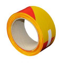 Bande de chantier 100m jaune et rouge