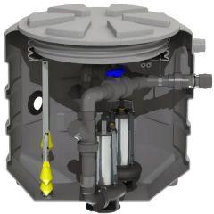 Station de relevage à enterrer 1 pompe Sanifos 610 spécial eaux pluviales - monophasé vortex - SFA