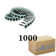 Boîte de 1000 Vis en bande 3.5x35 pour visseuse plaque de plâtre - Flex