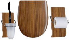 Set OLFA accessoires WC Noyer mat