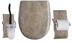 Set OLFA accessoires WC Chêne vieilli mat