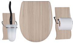 Set OLFA accessoires WC Maldivia mat - descente assistée et déclipsable