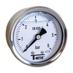 "Manomètre boitier inox à bain de glycérine AXIAL Mâle 1/4"" (8/13) - Ø50 - 0 à 16 bars"