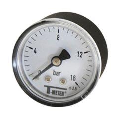 "Manomètre ABS à cadran sec AXIAL Mâle 1/8"""" - Ø40 - 0 à 16 bars"