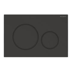 Plaque de déclenchement noir mat laqué et noir Sigma20 pour rinçage double touche - Geberit