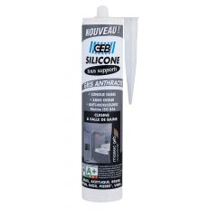 Silicone GEB tous supports cartouche 280ml - Gris anthracite