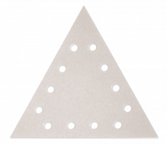 Paquet de 12 abrasifs triangle argent perforés SILVERFLEX - grain 60 - pour Giraffe - Flex