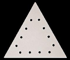 Paquet de 12 abrasifs triangle argent perforés SILVERFLEX - grain 100 - pour Giraffe - Flex