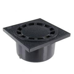 Siphon de sol PVC 150x150mm sortie verticale Ø40/50/63/125