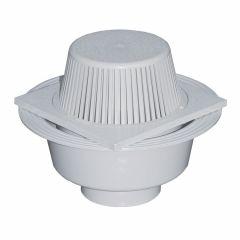 Siphon de terrasse 200x200mm PVC avec crapaudine  - Gris