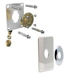 """Sortie de cloison ROBIFIX Machine à la laver + Plaque de finition - PER Ø16 - Femelle 1/2"""" (15/21) à Compression"""