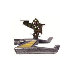 Arroseur cracheur métallique secteur réglable traineau métal-450m²