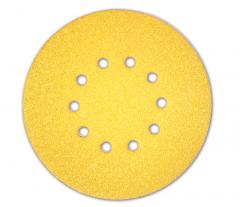Paquet de 25 abrasifs jaunes perforés SUNFLEX Ø225mm - grain 100 - pour Giraffe - Flex