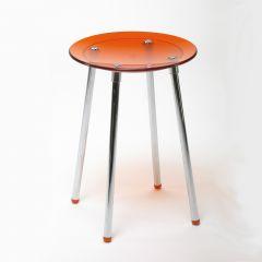 Tabouret de douche NONI orange transparent