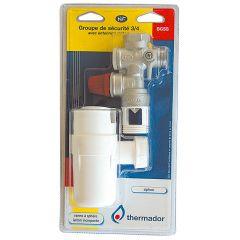 """THERMADOR Lot groupe sécurité brut droit 3/4"""" (20/27) + entonnoir siphon"""
