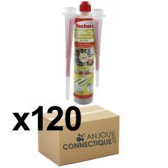 Lot de 120 Cartouches scellement chimique - Ton Pierre 300ml - Fischer