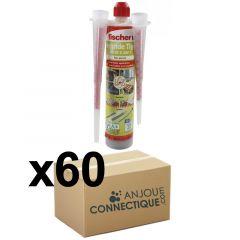 Lot de 60 Cartouches scellement chimique - Ton Pierre 300ml - Fischer